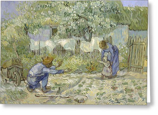 First-family Greeting Cards - First Steps Van Gogh Greeting Card by Nomad Art And  Design