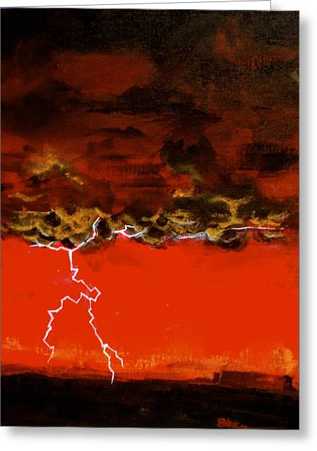 Recently Sold -  - Van Dyke Brown Greeting Cards - First Strike Greeting Card by Jim Ellis