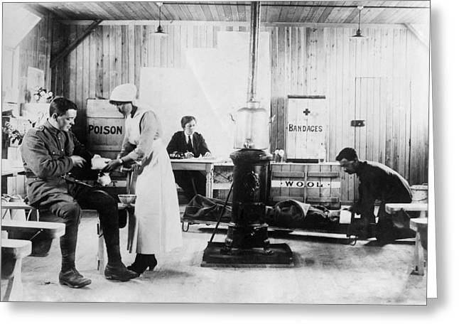 Detachment Greeting Cards - First World War first aid station Greeting Card by Science Photo Library