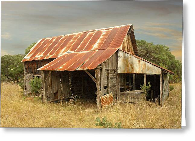 Out-building Greeting Cards - Fischer Corn Crib  Greeting Card by Robert Anschutz