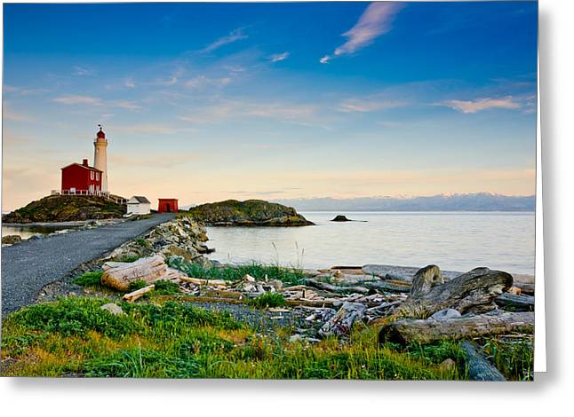 Ocean Art Photgraphy Greeting Cards - Fisgard Landscape  Greeting Card by Heather K Jones