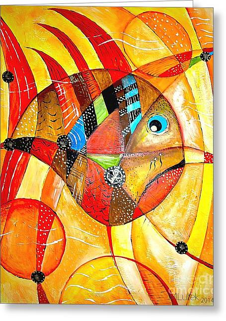 Best Sellers -  - Subtle Colors Greeting Cards - Fish 716-14 marucii Greeting Card by Marek Lutek