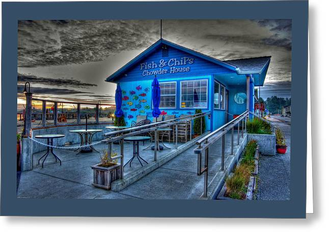 Fish And Chips Chowder House Greeting Card by Thom Zehrfeld