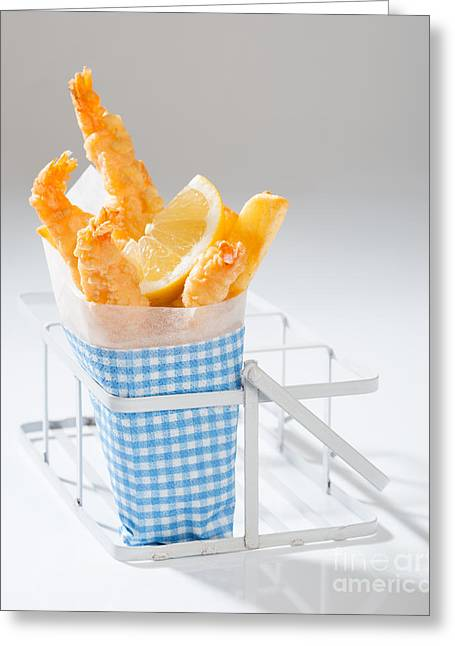 Fast Food Greeting Cards - Fish And Chips Greeting Card by Amanda And Christopher Elwell