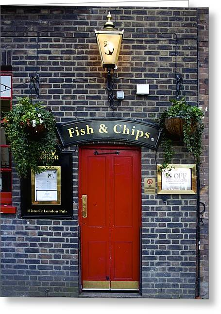 Polish Culture Greeting Cards - Fish and Chips in London Greeting Card by Jennifer Lamanca Kaufman