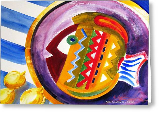 Best Seller Greeting Cards - Fish And Lemons Greeting Card by Marc L Gagnon