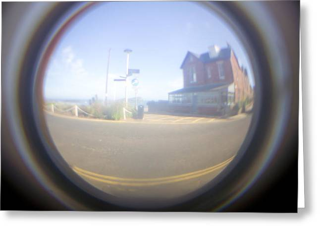 Peepholes Greeting Cards - Fish eye effect Greeting Card by Tom Gowanlock