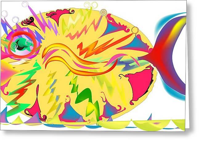 Fanatic Digital Greeting Cards - Fish Fanatic Greeting Card by Andy Cordan