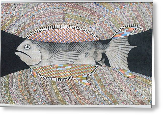Oracular Greeting Cards - Fish Greeting Card by Grass Hopper