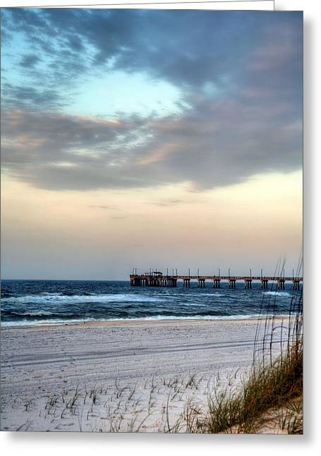 Beach At Night Greeting Cards - Fish Gulf Shores Greeting Card by JC Findley