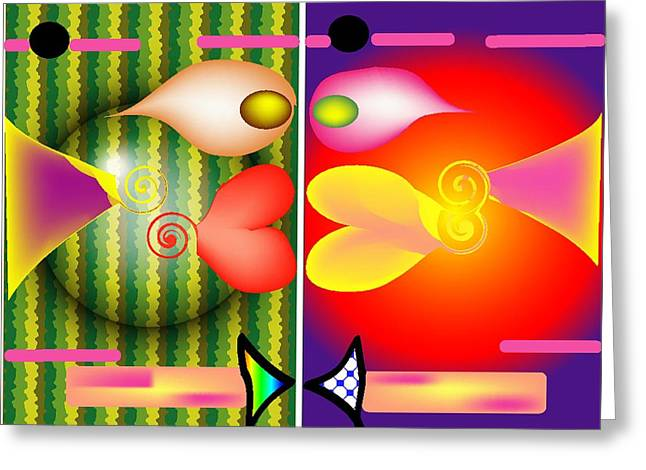 Puffer Fish Digital Greeting Cards - Fish Lips Greeting Card by Andy Cordan