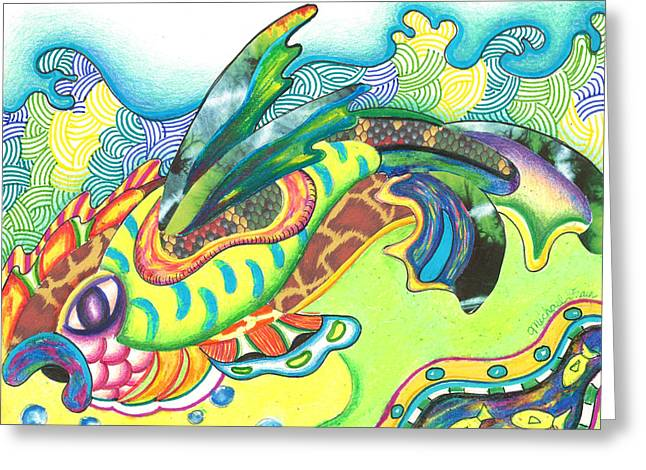 Andrew Michael Greeting Cards - Folami - Fish Greeting Card by Michael Andrew Frain