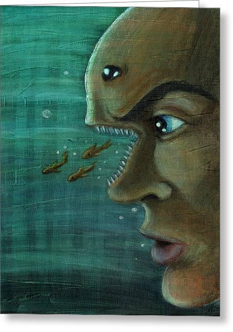 John Ashton Golden Greeting Cards - Fish Mind Greeting Card by John Ashton Golden