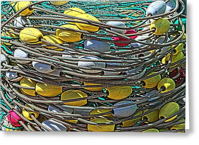 Gill Netter Greeting Cards - Fish Net HDR Greeting Card by Cathy Mahnke