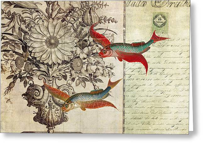 Flying Fish Greeting Cards - Fish of a Feather Greeting Card by Aimee Stewart