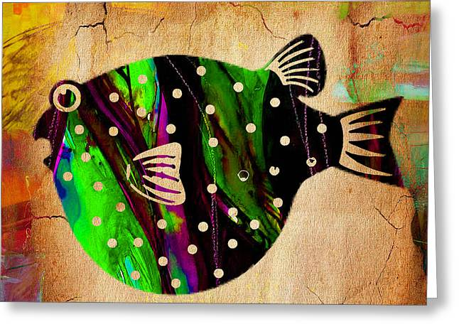 Sea Life Greeting Cards - Fish Paintings Greeting Card by Marvin Blaine