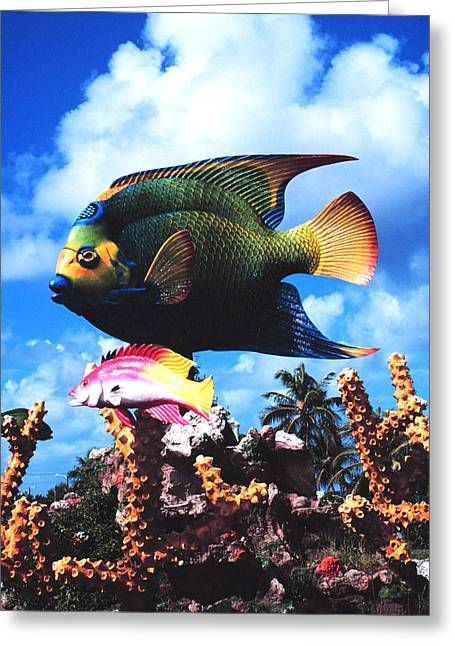 Noaa Greeting Cards - Fish Sculpture Greeting Card by Unknown
