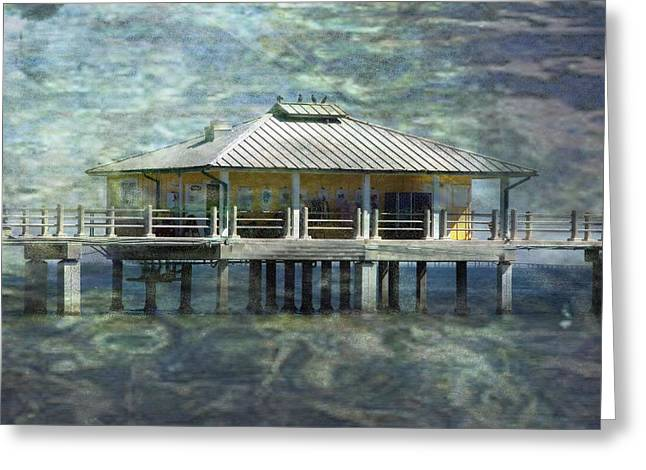 St Petersburg Florida Greeting Cards - Fish Shack Greeting Card by Eagle  Finegan
