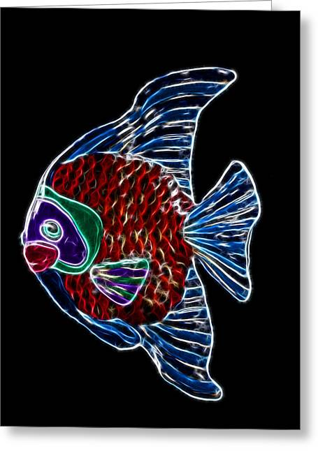 Shiny Mixed Media Greeting Cards - Fish Tales Greeting Card by Shane Bechler
