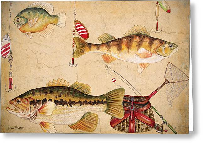 Gill Netter Greeting Cards - Fish Trio-A Greeting Card by Jean Plout