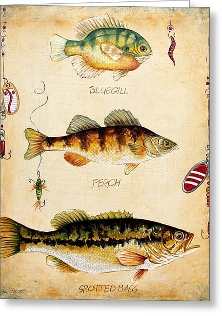 Brown Trout Greeting Cards - Fish Trio-C Greeting Card by Jean Plout