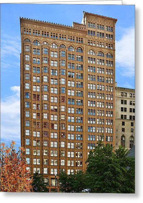 Tower Greeting Cards - Fisher Building - A neo-Gothic Chicago landmark Greeting Card by Christine Till