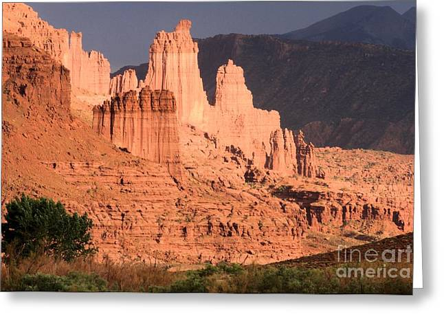 Southern Utah Greeting Cards - Fisher Glow Greeting Card by Adam Jewell