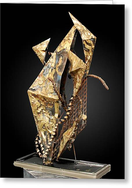 Metal Sheet Sculptures Greeting Cards - Fisher Of Men Greeting Card by GK Brock