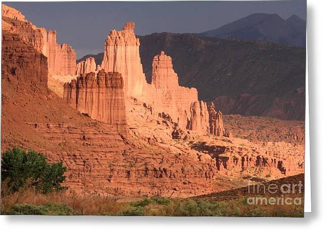 Southern Utah Greeting Cards - Fisher Towers Sunset Greeting Card by Adam Jewell