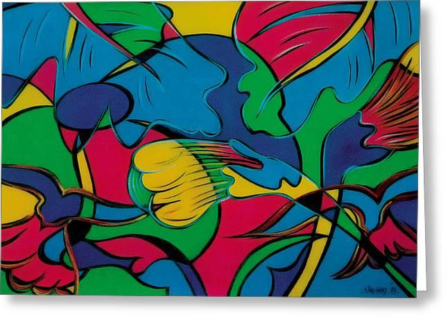 Fish Framed Prints Mixed Media Greeting Cards - Fisherman-1 Greeting Card by Naushad  Waheed