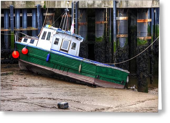 Fisherman Boat Greeting Card by Svetlana Sewell