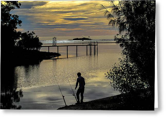 Australia Photographs Greeting Cards - Fisherman Greeting Card by Constance Fein Harding