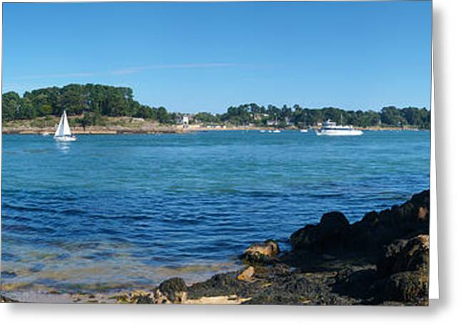Person Greeting Cards - Fisherman Fishing In The Sea Greeting Card by Panoramic Images