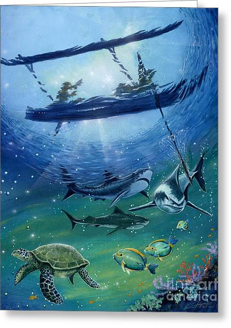 Light Coral Greeting Cards - Fisherman Ku Ula-Kai Greeting Card by Bill Shelton
