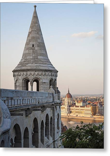 Bastion Greeting Cards - Fishermans Bastion. Budapest. Greeting Card by Fernando Barozza
