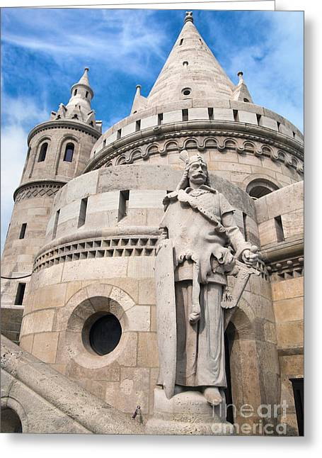 Neo-gothic-style Greeting Cards - Fishermans Bastion in Budapest Greeting Card by Michal Bednarek