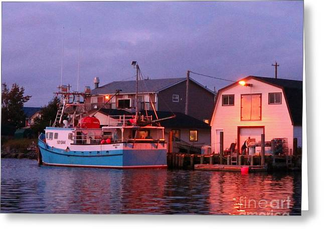 Halifax Photographs Greeting Cards - Fishermans Cove at Sunset Greeting Card by John Malone