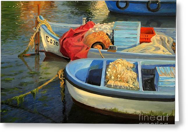 European Artwork Greeting Cards - Fishermans Etude Greeting Card by Kiril Stanchev