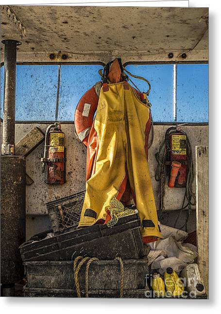 New England Village Greeting Cards - Fishermans Gear Greeting Card by John Greim