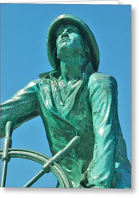 Bravery Greeting Cards - Fishermans Memorial Greeting Card by Joann Vitali