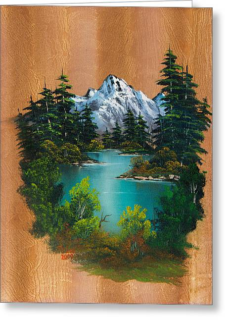 Bob Ross Paintings Greeting Cards - Anglers Fantasy Greeting Card by C Steele