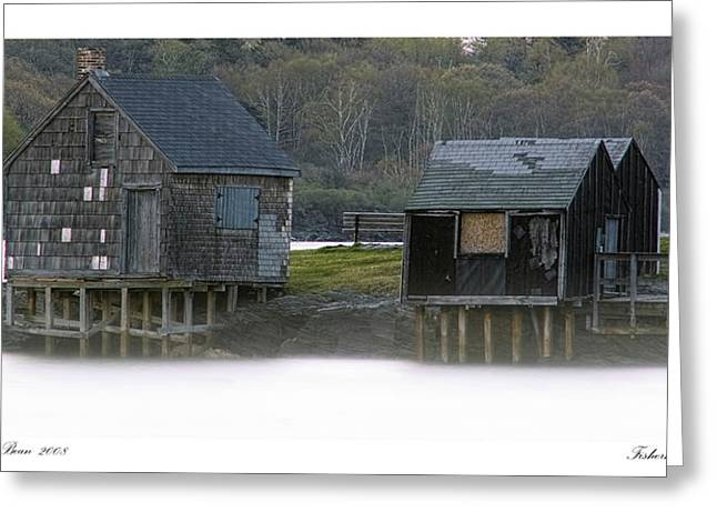 Maine Landscape Greeting Cards - Fishermans Point Greeting Card by Richard Bean