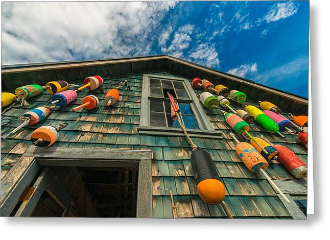 Maine Greeting Cards - Fishermans Shack Greeting Card by Joseph Rossbach
