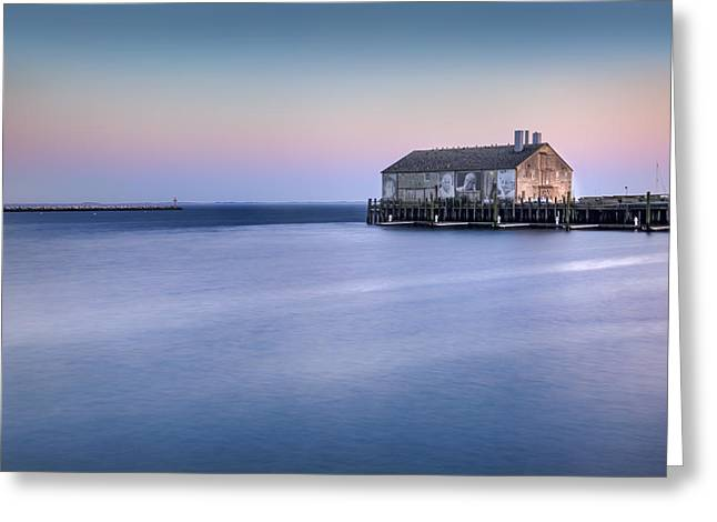 Provincetown Greeting Cards - Fishermans Wharf Greeting Card by Bill  Wakeley
