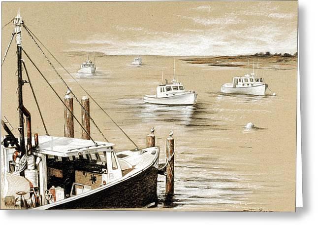 Fisherman's Wharf Chatham Mass. Greeting Card by Todd Bachta