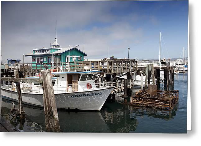 Fisherman Wharf Greeting Cards - Fishermans Wharf in Monterey Greeting Card by Carol M Highsmith