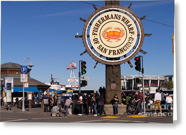 Fishermens Wharf Greeting Cards - Fishermans Wharf San Francisco California DSC2032 Greeting Card by Wingsdomain Art and Photography