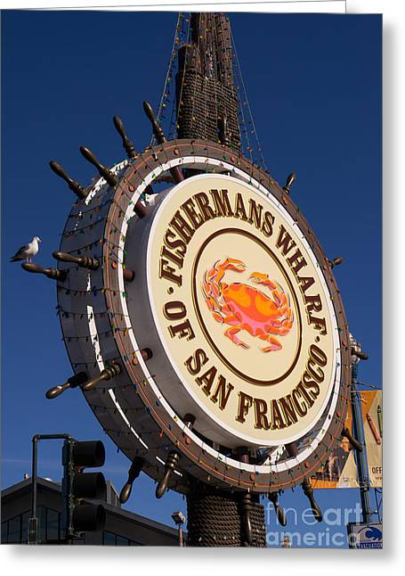 Fishermens Wharf Greeting Cards - Fishermans Wharf San Francisco California DSC2044 Greeting Card by Wingsdomain Art and Photography