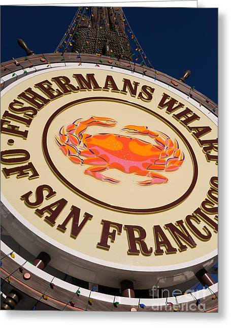 Fishermens Wharf Greeting Cards - Fishermans Wharf San Francisco California DSC2046 Greeting Card by Wingsdomain Art and Photography