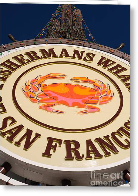 Fishermens Wharf Greeting Cards - Fishermans Wharf San Francisco California DSC2048 Greeting Card by Wingsdomain Art and Photography